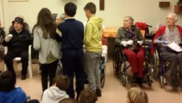 Visita dei bimbi del catechismo della nostra parrocchia
