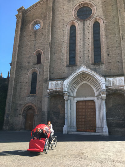 Uscita in bici insieme a Vittorio e Anna.
